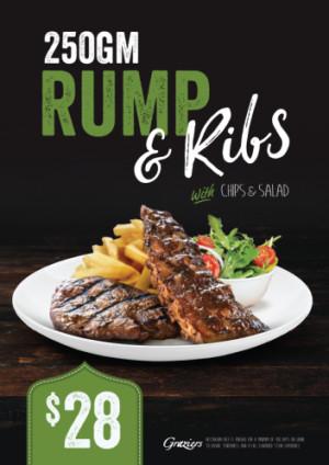 $28 Rump & Ribs