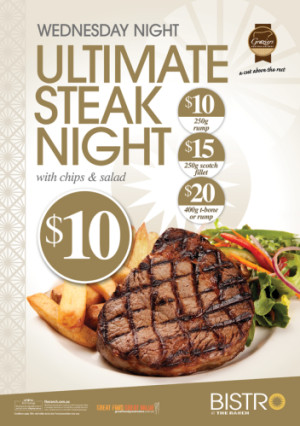 Wednesday The Ultimate Steak Night