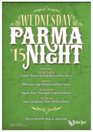 Wednesday $15 Parma Night
