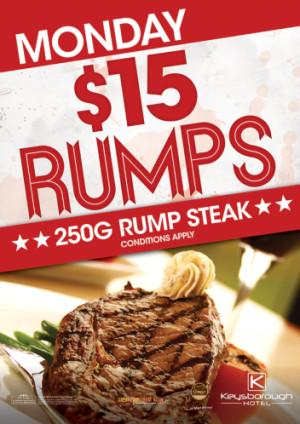 Monday Night $15 Steak Night