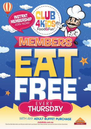 Thursday Club 4 Kids Members Eat Free