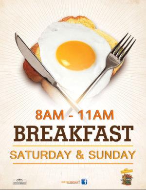 Weekend Breakfast Menu