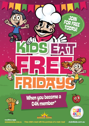 Friday Club 4 Kids Members Eat Free