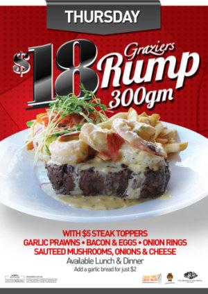 Thursday $18 Graziers Rump