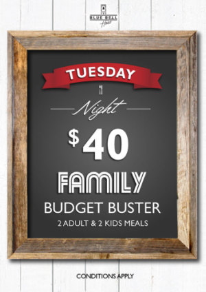 Tuesdays $40 Family Budget Buster