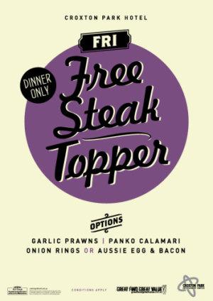 Free Steak Topper Friday