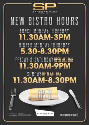 New Bistro Hours