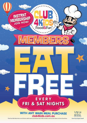 Club 4 Kids Eat Free