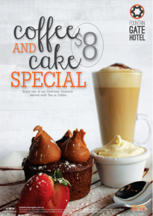 $8 Coffee & Cake Special