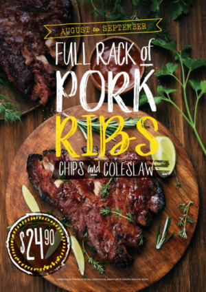 Full Rack Of Pork Ribs $24.90