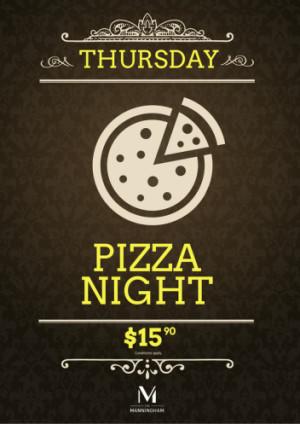 Thursday $15.90 Pizza Night
