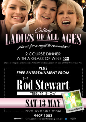 Rod Stewart Tribute Dinner & Show