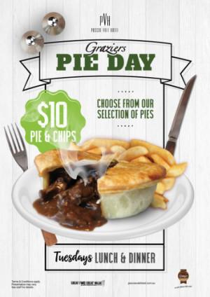 Tuesday $10 Graziers Pie