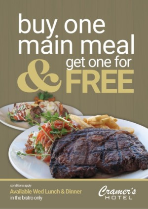 Buy one Main Meal, Get one for Free