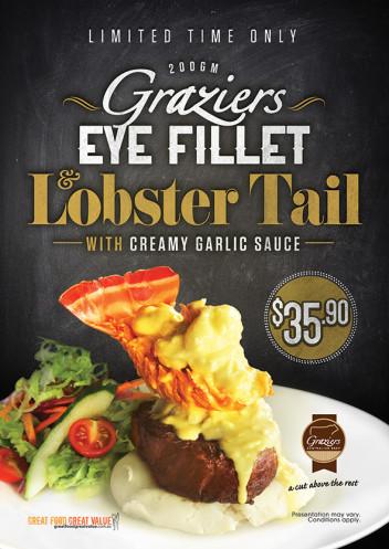 Graziers Eye Fillet & Lobster Tail